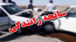 ۴ مصدوم بر اثر واژگونی خودرو در جاده بوستان