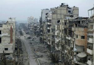 ویرانی حمص سومین شهر بزرگ سوریه