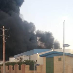 آتش سوزی دریک شرکت صنعتی در زرندیه