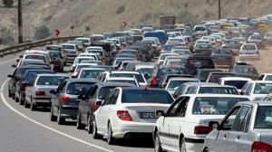 ترافیک سنگین در جاده کرج ـ چالوس