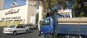 جلوگیری از ورود تابلوهای تبلیغاتی باشگاه استقلال به ورزشگاه آزادی