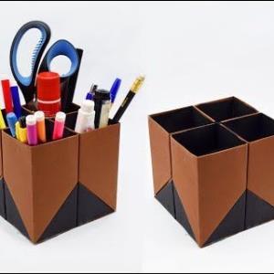 با پاکت های بازیافتی جامدادی جذاب بسازید