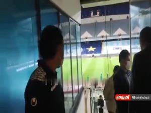 سرمربی تیم ملی امید در استادیوم آزادی