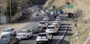 ترافیک در جاده کرج - چالوس سنگین شد