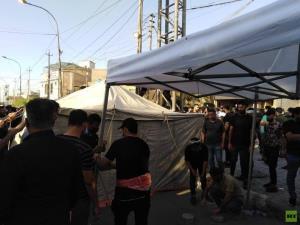 اعتراضات علیه نتایج انتخابات به منطقه سبز بغداد رسید