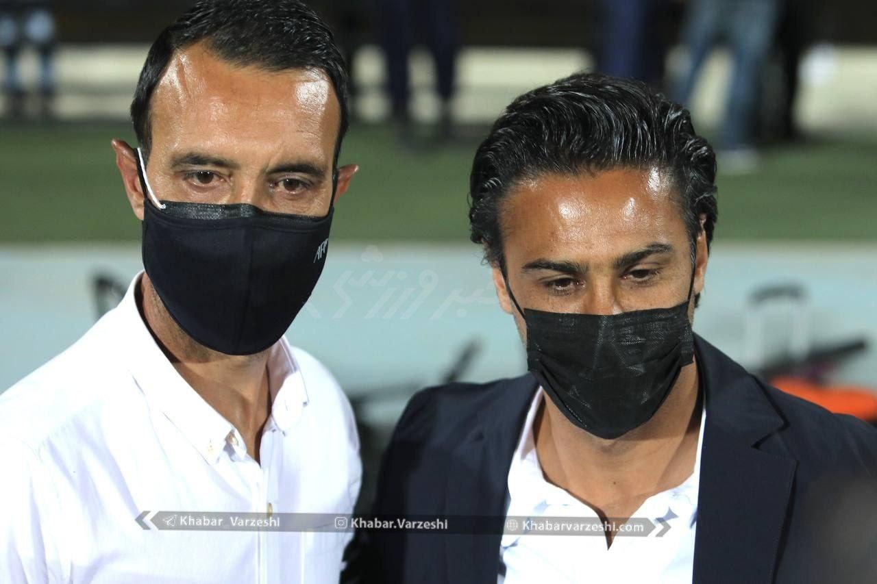 عکس یادگاری مجیدی و عنایتی پیش از دیدار تیم های استقلال و هوادار