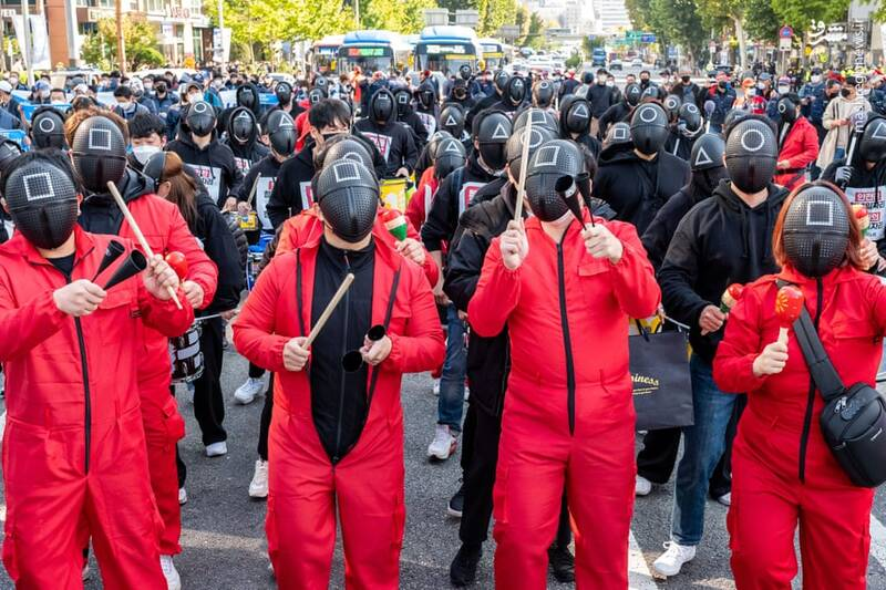 پای سریال بازی مرکب به تظاهرات خیابانی کشیده شد!