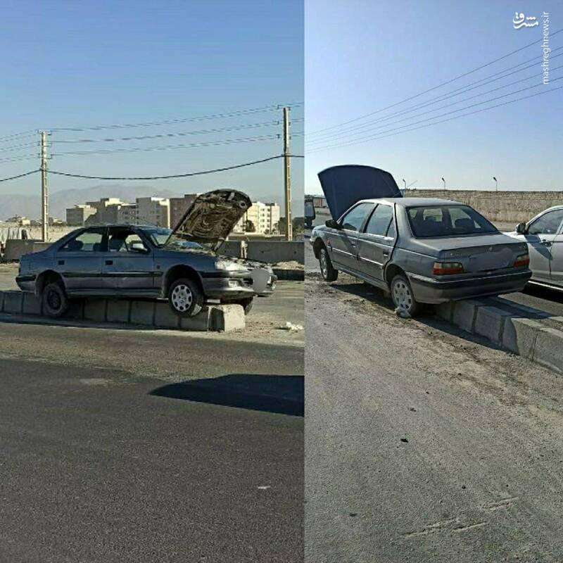 پیدا شدن خودرو سرقتی در وضعیت عجیب!