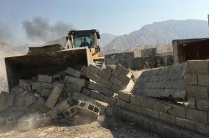 ۱۴ بنای غیرمجاز در زمین های زراعی رامیان تخریب شد