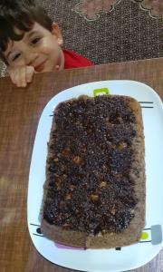 از شما/کیک موزی  با سس شکلات 😊