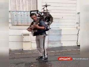 اجرای موسیقی خیابانی جذاب با چندین ساز!