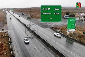 جادههای شمالی خراسان رضوی بارانی و لغزنده است