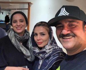 چهرهها/ روشنک عجمیان در کنار مهران غفوریان و همسرش