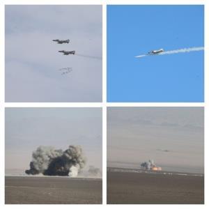 انهدام اهداف دشمن با بمب یاسین ۹۰/تمرین رهگیری هوایی در ارتفاع پست
