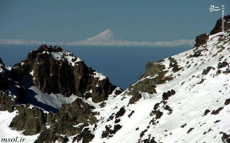 دورنمای دماوند از فراز کوه کرکس