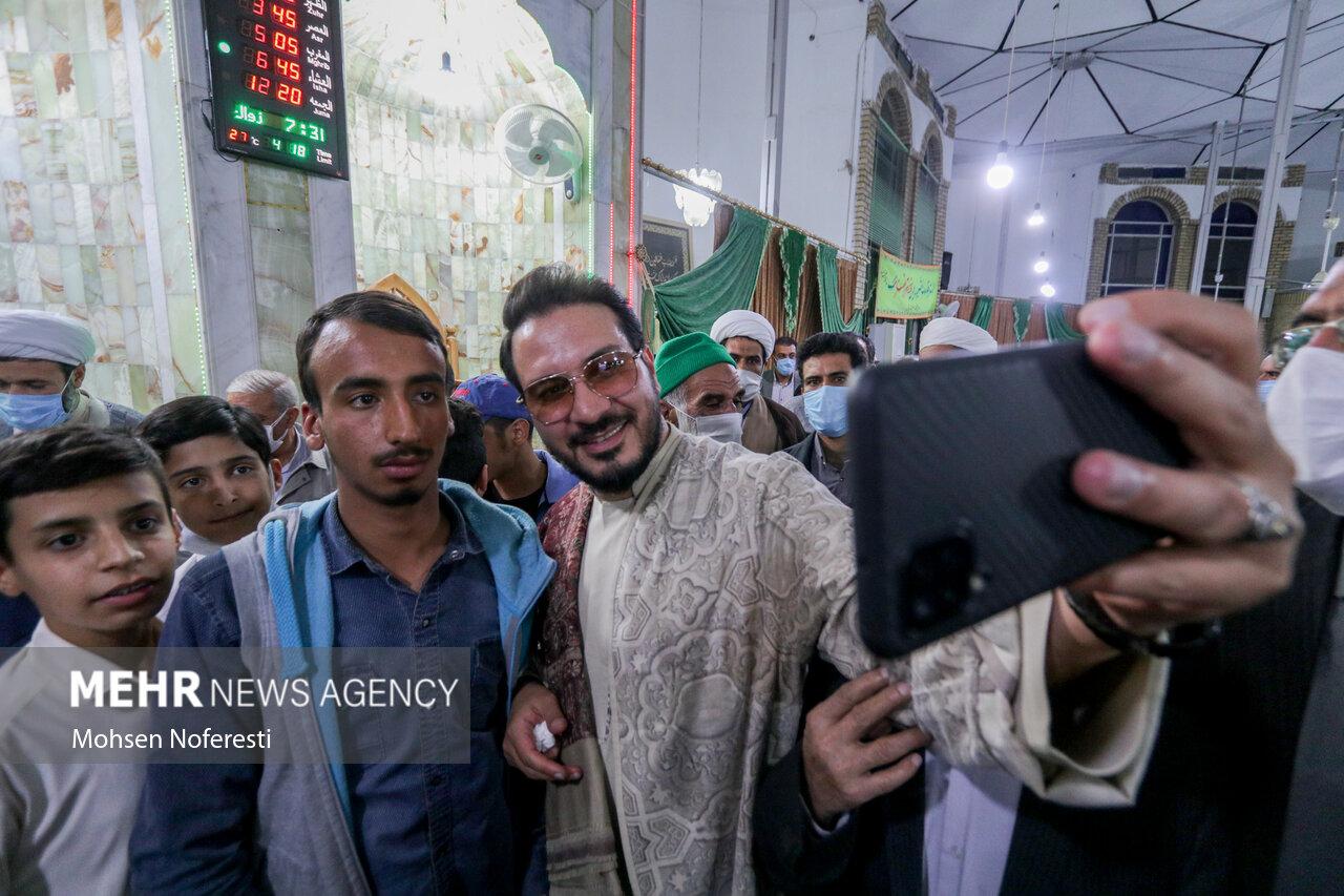 عکس/ حضور قاری مشهور در مسجد اهل سنت بیرجند