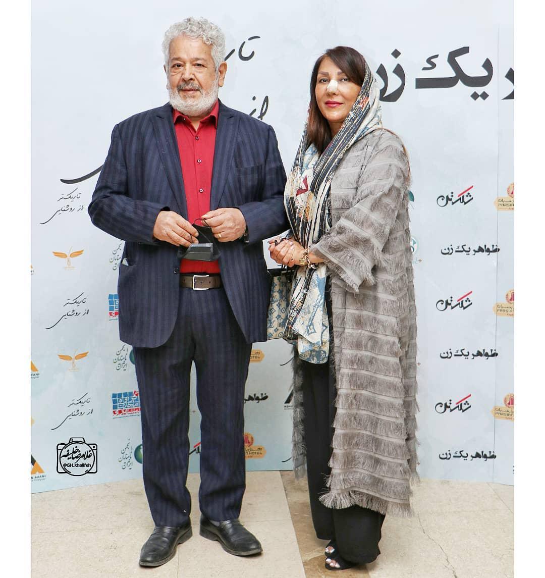 چهره ها/ رضا فیاضی و همسرش در مراسم اکران یک فیلم