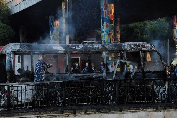 حمله تروریستی به اتوبوس نظامیان در دمشق