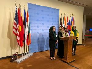 تقاضای ضد طالبانی چند دیپلمات و خبرنگار زن افغان از سازمان ملل
