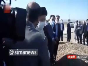 گفتگوی رئیسی با کشاورز اردبیلی به زبان آذری