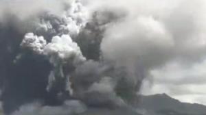 تصاویری حیرت انگیز از فوران کوه آسو در ژاپن