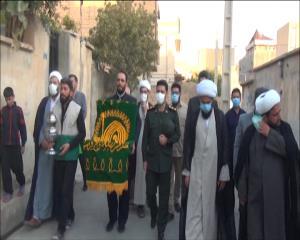 ورود پرچم متبرک حرم رضوی به شهرستان گیلانغرب