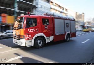 آتشسوزی در یک بیمارستان در خیابان انقلاب