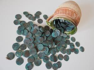 کشف گنجینهای از سکه در آوگسبورگ آلمان