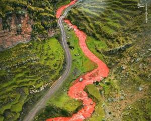رودخانه شگفت انگیز سرخ در کشور پرو