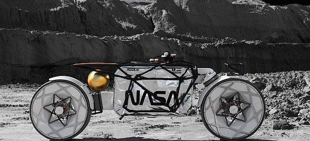 طرح مفهومی عجیب برای تردد فضانوردان آینده در قمر زمین؛ موتور سواری روی ماه!