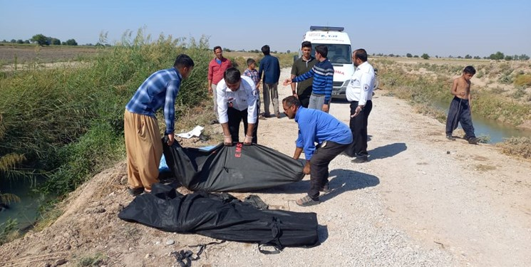 سقوط مرگبار خودرو در کانال آب دزفول