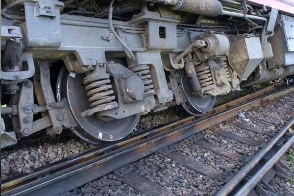 خروج قطار باری از ریل در سوادکوه