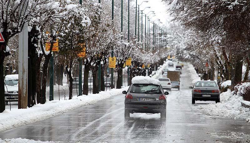 بارش برف و باران در برخی استانها