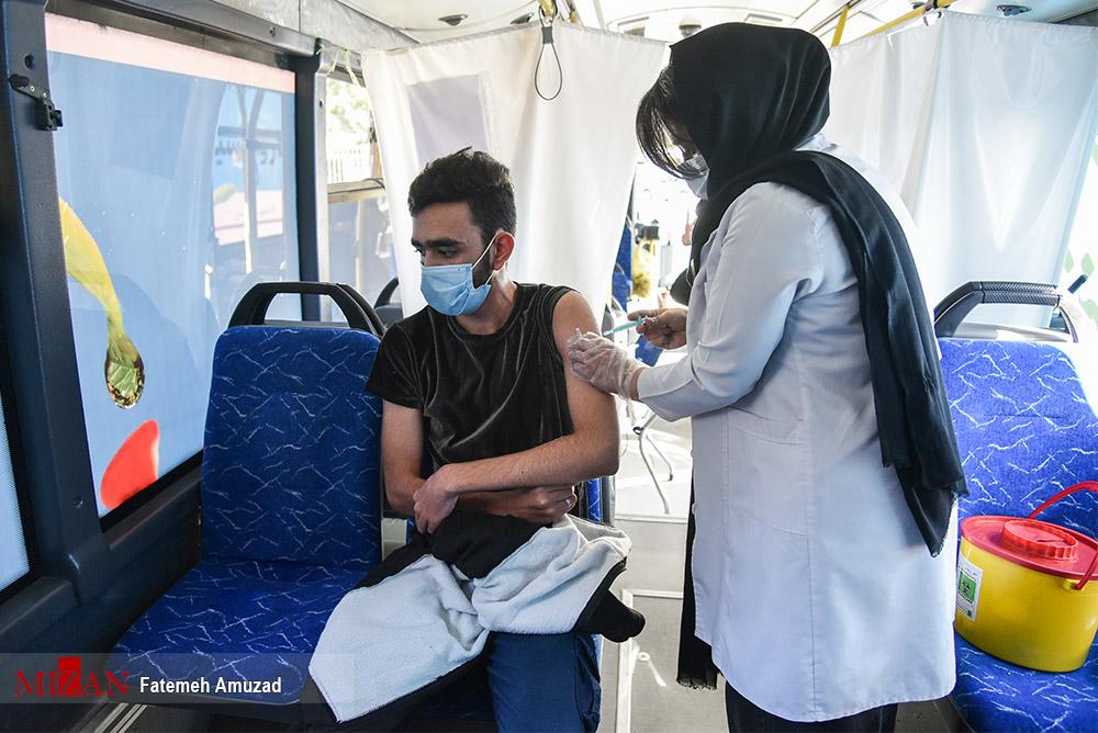 عکس/ طرح واکسیناسیون سیار شهروندان تهرانی