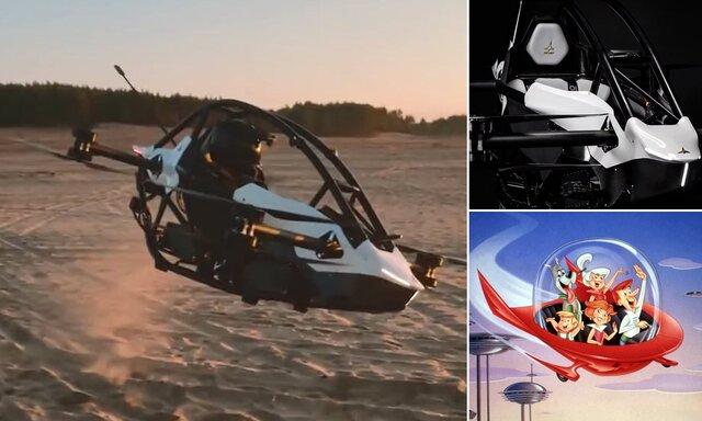 ساخت خودرو پرنده با الهام از انیمیشن علمی-تخیلی!