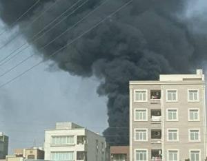 فیلم آتشسوزی مهیب پست برق در بندرعباس