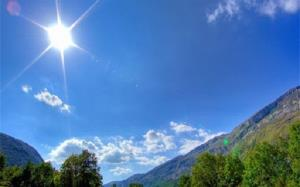 تابش خورشید بر پهنه مازندران در اولین روز آبان
