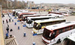 ضدعفونی اتوبوسهای بین شهری در کرمانشاه