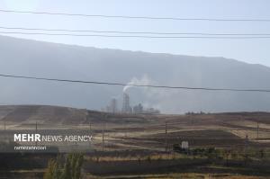 آلودگی کارخانه سیمان ایلام به روایت تصویر
