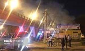 آتشسوزی مهیب در پست برق بندرعباس