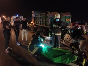 فوت ۲ سرنشین خودرو سواری در تصادف با کامیون در شیراز