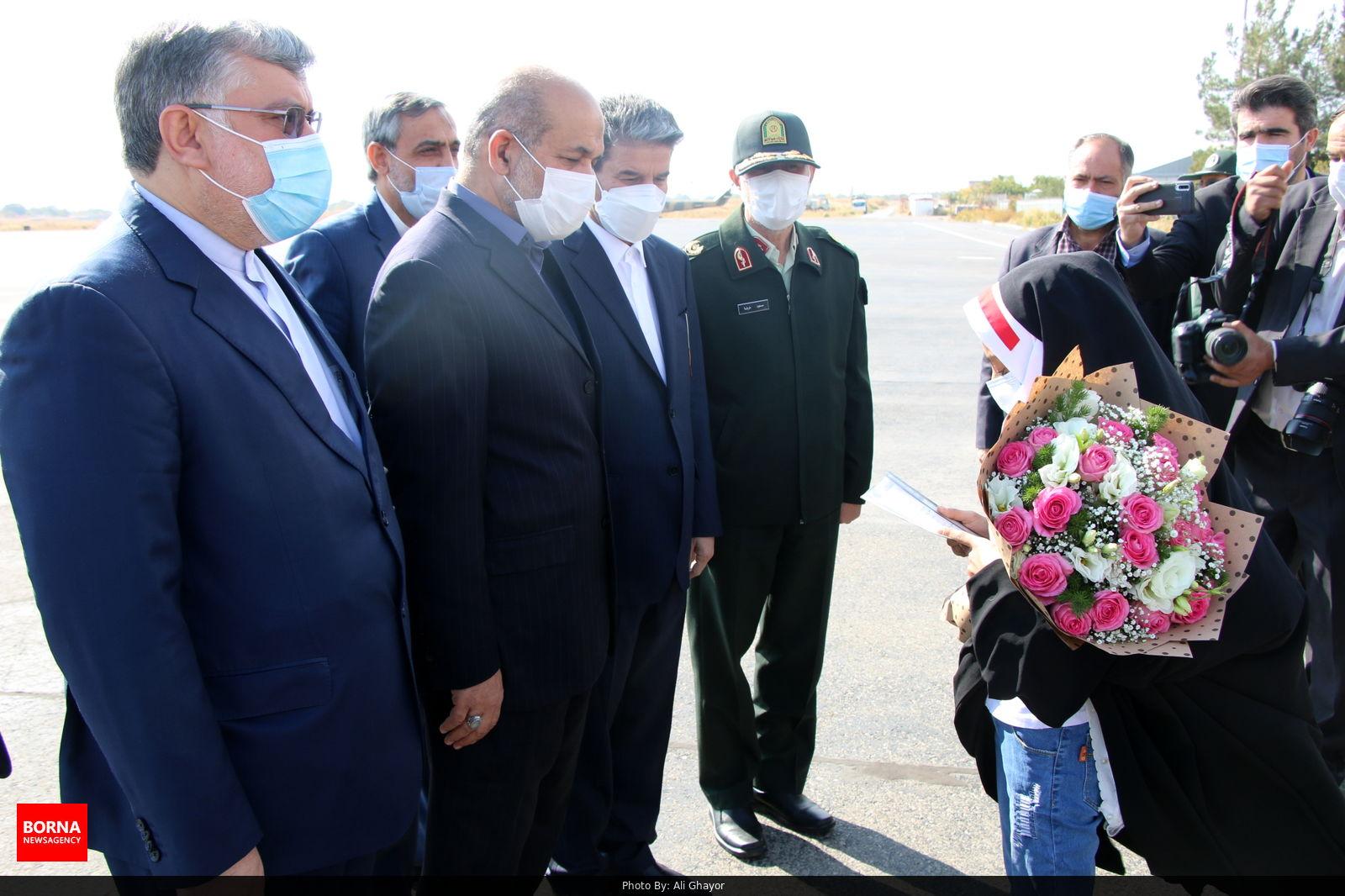 عکس/ استقبال از وزیر کشور در فرودگاه شهید باکری ارومیه