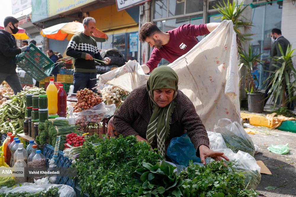 حال و هوای بازار محلی گیلان