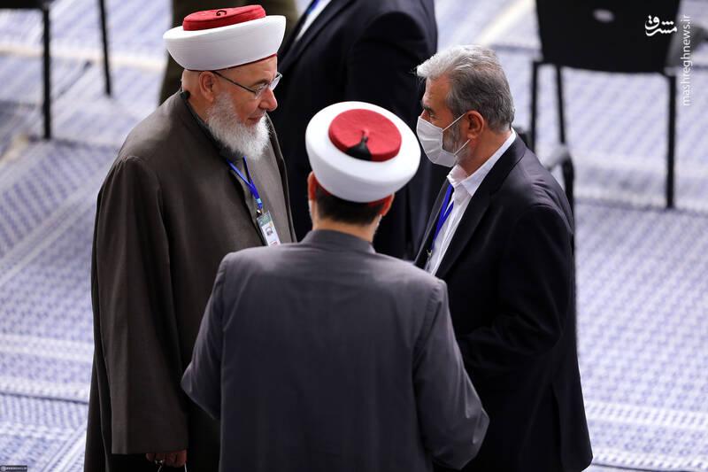دبیرکل جهاد اسلامی فلسطین در حسینیه امام خمینی (ره)