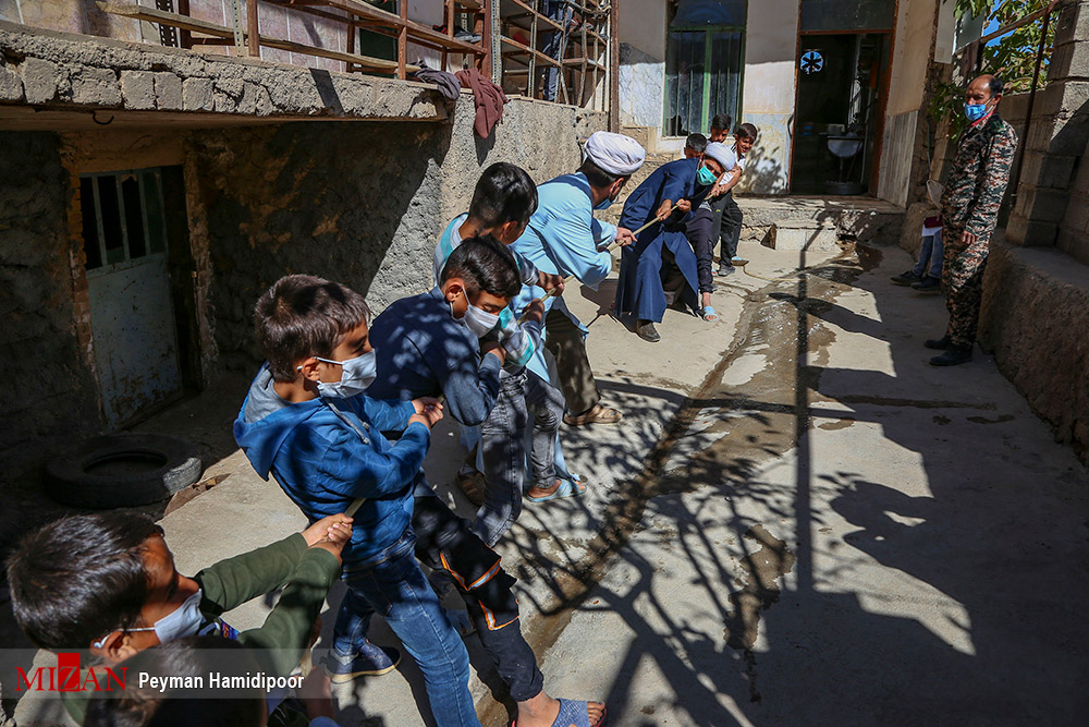 اردوی جهادی اصناف و بازاریان در روستای «دهگاه» بجنورد