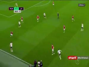 گل چهارم لیورپول به منچستریونایتد