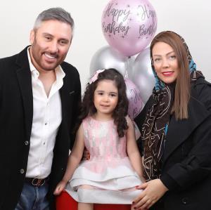 چهرهها/ نیما مسیحا و همسرش در جشن تولد دخترش لاوین