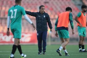 تمرین تیم امید در ورزشگاه اصلی تاجیکستان