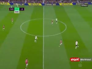 گل اول لیورپول به منچستریونایتد