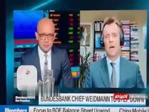 ظاهرشدن ناگهانی کودک در پخش زنده تلویزیونی پدرش